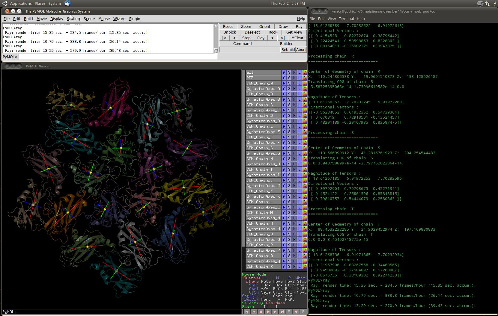 Gyration Tensor demo